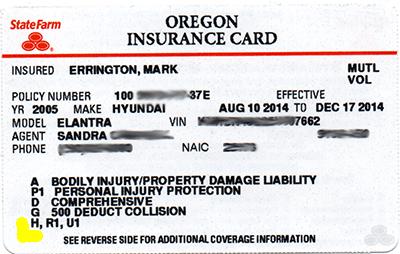 Car Insurance Card Sample ~ news word