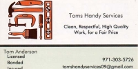 Toms Handy Services 1